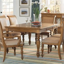 American Drew Grand Isle Rectanular Dining Table in Amber Finish