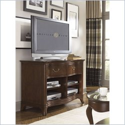 American Drew Cherry Grove Entertainment Console in Mid Tone Brown
