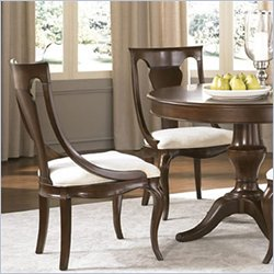 American Drew Cherry Grove Sling Back Dining Side Chair in Mid Tone Brown