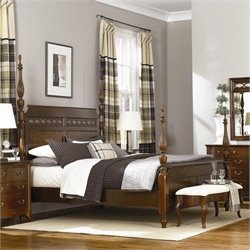 American Drew Cherry Grove Poster Bed in Mid Tone Brown