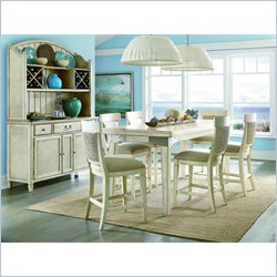American Drew Americana Home Conversation Table in Weathered White