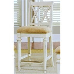 American Drew Camden Splat Back Bar Stool in Buttermilk