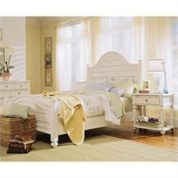 American Drew Camden Panel Bed 3 Piece Bedroom Set in Buttermilk