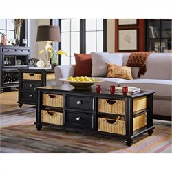 American Drew Camden Black 2 Piece Coffee Table Set