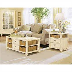 American Drew Camden 2 Piece Coffee Table Set in Buttermilk