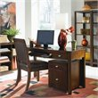 Tribecca Desk with File Caddy in Root Beer Finish