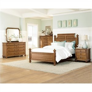 american drew grand isle 5piece bedroom set in amber finish