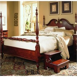 American Drew Cherry Grove Low Poster Bed in Classic Cherry Finish - Queen