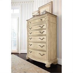 American Drew Jessica McClintock The Boutique 6 Drawer Chest in White Veil