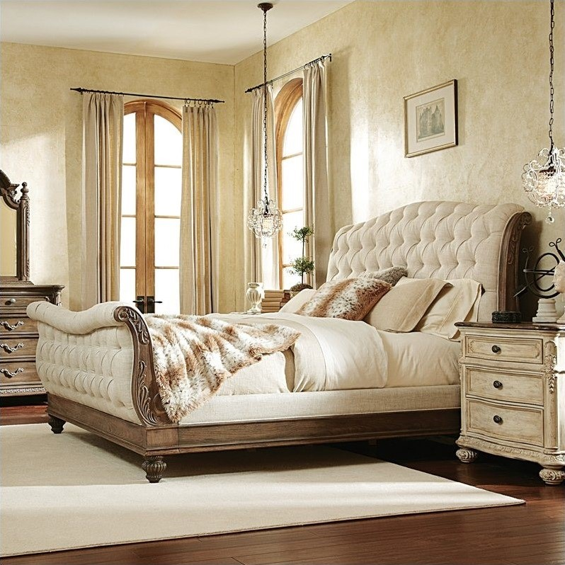 American Drew Jessica Mcclintock The Boutique Sleigh Bed In Baroque