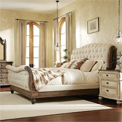 American Drew Jessica McClintock The Boutique Sleigh Bed in Baroque - Queen