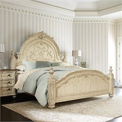 American Drew Jessica McClintock The Boutique Mansion Bed in White - Queen