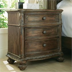 American Drew Jessica McClintock The Boutique 3 Drawer Nightstand in Baroque