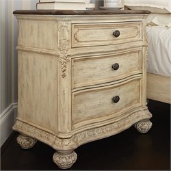 American Drew Jessica McClintock The Boutique 3 Drawer Nightstand in White Veil