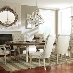 American Drew Jessica McClintock The Boutique Oval Dining Table in White Veil