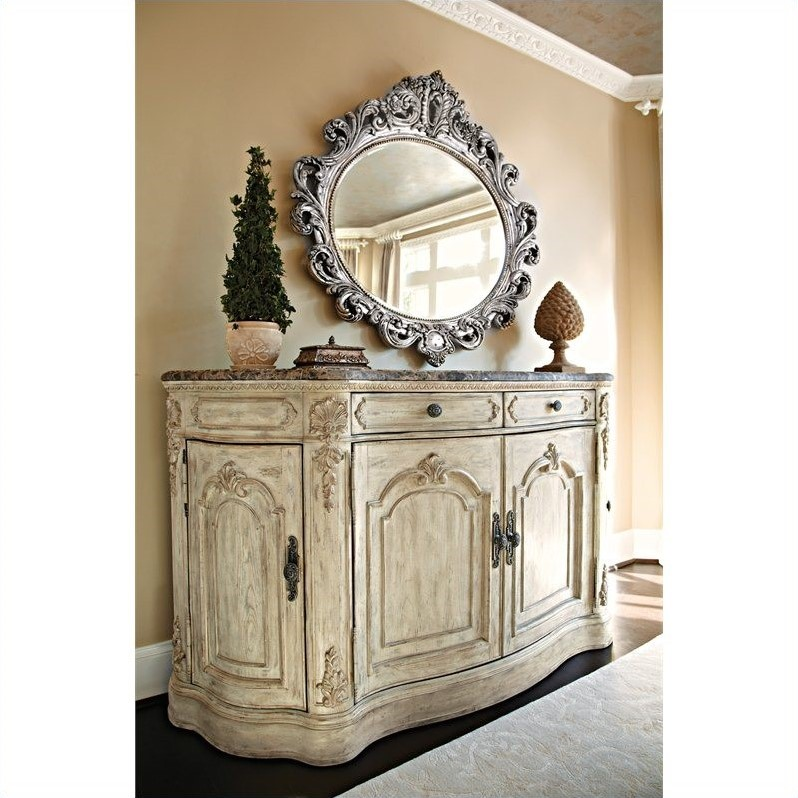 drew the boutique marble top buffet white veil jessica mcclintock furniture romance outlet collection