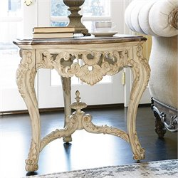 American Drew Jessica McClintock The Boutique Wood End Table in White