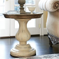 American Drew Jessica McClintock The Boutique Round End Table in White