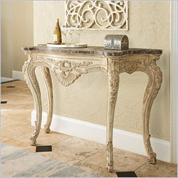 American Drew Jessica McClintock The Boutique Hall Console Table in White Veil