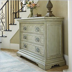 American Drew Jessica McClintock The Boutique Painted Accent Chest in Verdigris