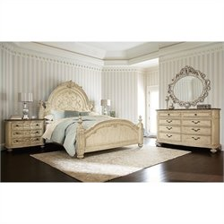 American Drew Jessica McClintock The Boutique 4 Piece Mansion Bedroom Set