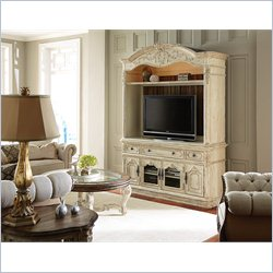 American Drew Jessica McClintock The Boutique Entertainment Console with Hutch in White Veil