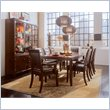 American Drew Tribecca 7 Piece Dining Set in Root Beer Brown