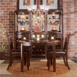 American Drew Tribecca 3 Piece Round Dining Set in Root Beer Brown