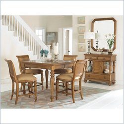 American Drew Grand Isle Counter Height Dining Set in Amber