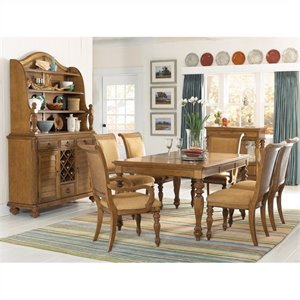 American Drew Grand Isle 7 Piece Rectangular Dining Set in Amber