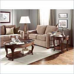 American Drew Cherry Grove 3 Piece Coffee Table Set in Mid Tone Brown