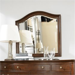 American Drew Cherry Grove Arched Mirror and Supports in Mid Tone Brown