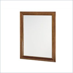 American Drew Miramar Landscape Mirror in Natural Two Tone