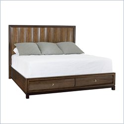 American Drew Miramar Panel Bed with Storage in Natural Two Tone - Queen