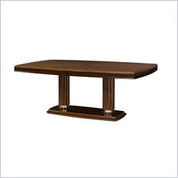 American Drew Miramar Pedestal Dining Table in Natural Two Tone