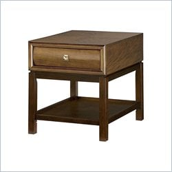 American Drew Miramar Rectangular Drawer Table in Natural Two Tone