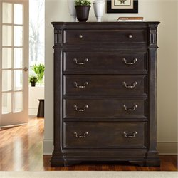 American Drew Manchester Court 5 Drawer Wood Chest in Brown
