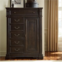 American Drew Manchester Court 6 Drawer Wood Wardrobe Chest in Brown