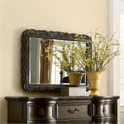 American Drew Casalone Carved Accent Mirror in Cafe