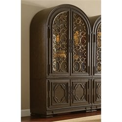American Drew Casalone 2 Door Wood Bunching China Cabinet in Cafe