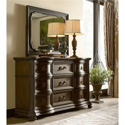 American Drew Casalone 2 Piece Wood Dresser Set in Cafe