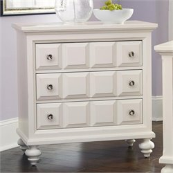 American Drew Lynn Haven 3 Drawer Wood Bachelor's Chest in White