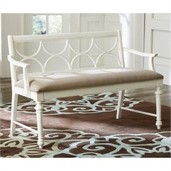 American Drew Lynn Haven Dining Bench in White