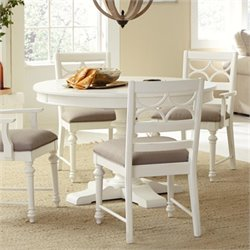 American Drew Lynn Haven Round Wood Dining Table in White