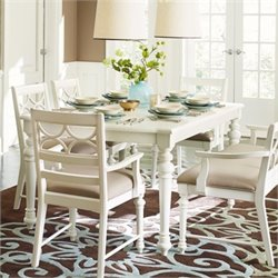 American Drew Lynn Haven Wood Dining Table in White