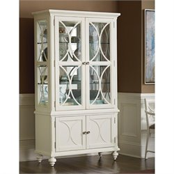 American Drew Lynn Haven Curio China Cabinet in White