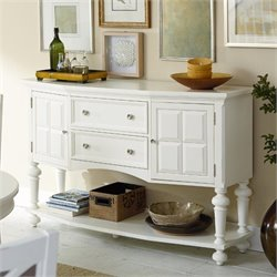 American Drew Lynn Haven 2 Drawer Wood Sideboard in White