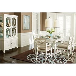 American Drew Lynn Haven 8 Piece Wood Dining Set in White