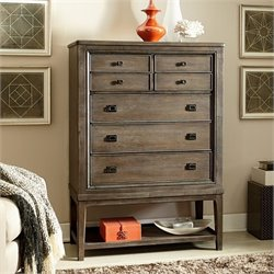 American Drew Park Studio 7 Drawer Wood Chest in Taupe