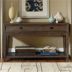 American Drew Park Studio 2 Drawer Wood Console in Taupe